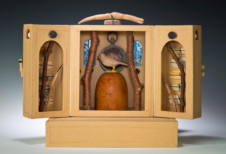 """Spirit (altarpiece, open), 12"""" x 19"""" x 12"""" (1995)"""