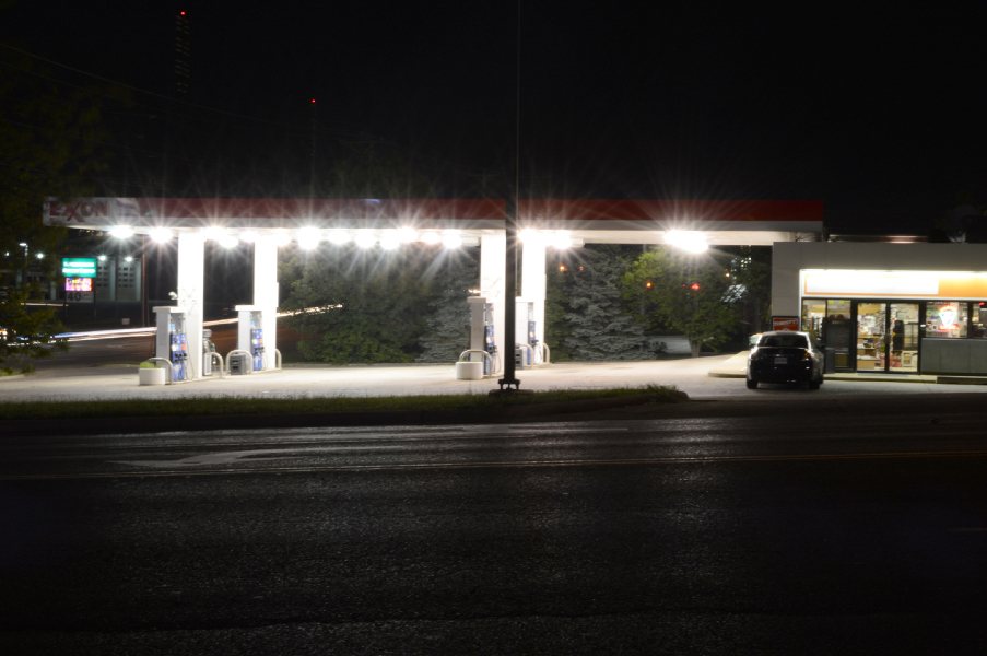 Bright Gas Station