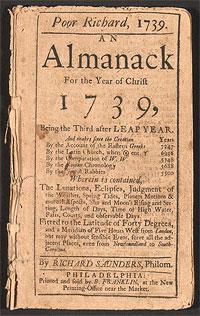 Poor Richard's Almanack, 1739