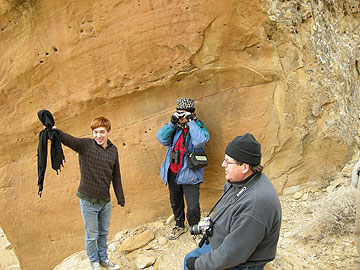 Some of Elizabeth's companions (left to right): John, Cherilynn, and Andy. Photo by Elizabeth Dodd.