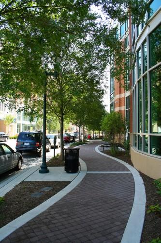 Library sidewalk