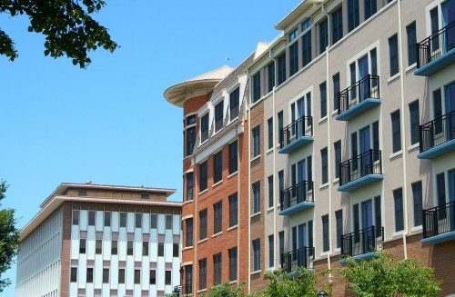 Residential units at Rockville Town Square.