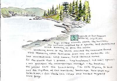 Journal entry of Point Pleasant