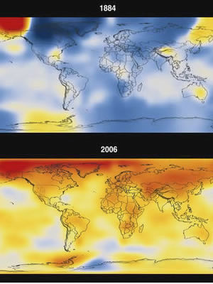 Global warming, 1884 to 2006