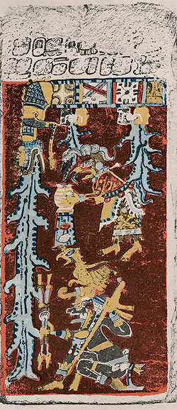 Itzamna as represented in the Dresden Codex