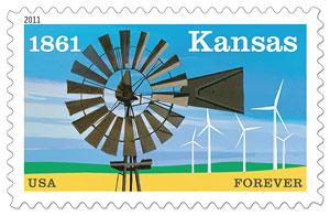 Kansas postage stamp