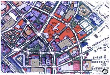 Downtown Silver Spring site plan