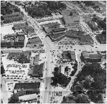 1950s aerial view of Silver Spring