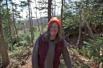 Alison Deming on the trail