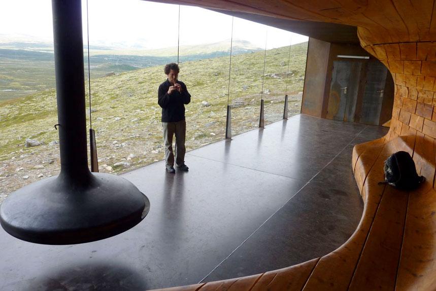 Testing music inside Snøhetta