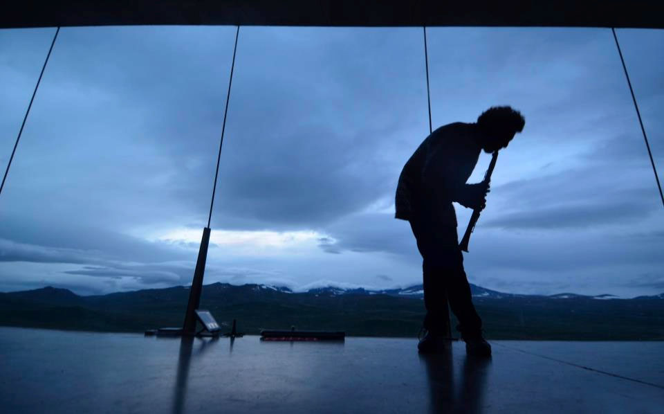 Performing at Snøhetta