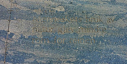 Text engraved on stone.