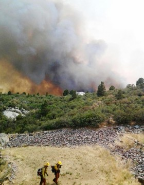 Wildfire near Yarnell, Arizona.