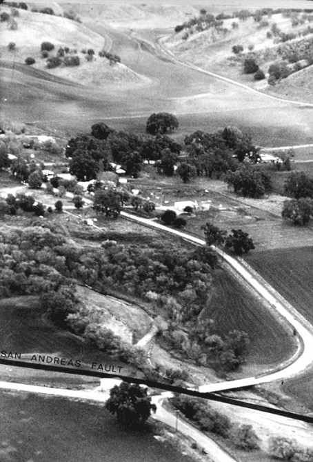 Parkfield, California aerial photo circa 1964