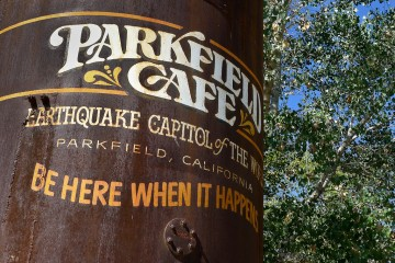 Parkfield Cafe sign