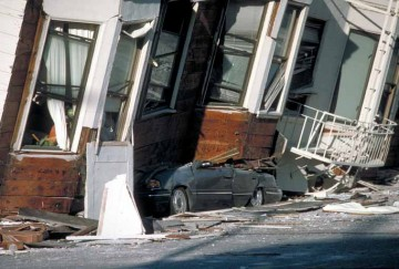 Damage in San Francisco from the Loma Prieta earthquake.