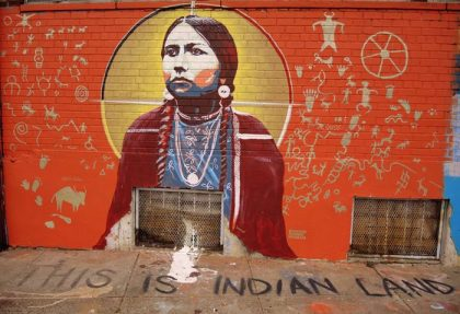 """Moving Robes Woman"" mural"