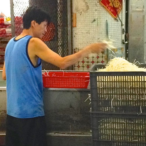Food repackaging at the wholesale market is labor intensive.