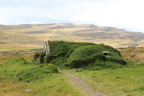 The Sorcerer's Cottage, a turf house in Bjarnarfjörður, Westfjords