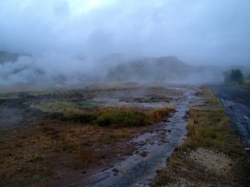 the steam from Geysir (where our word geyser comes from)