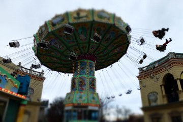 On an amusement park ride in Vienna