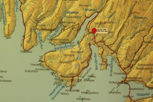 map of the part of the Westfjords