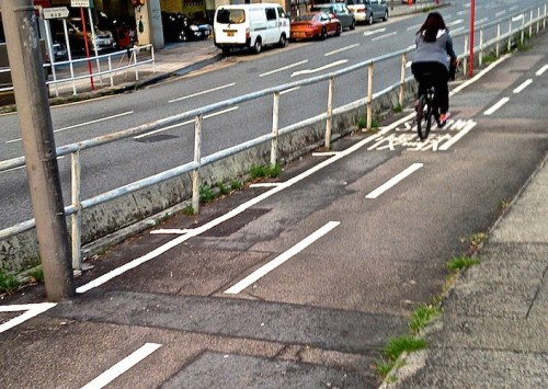 Hong Kong maintains this road well, but not the bike path.