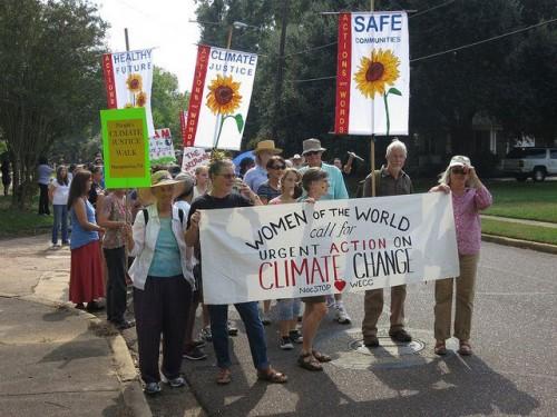 Climate Walk participants