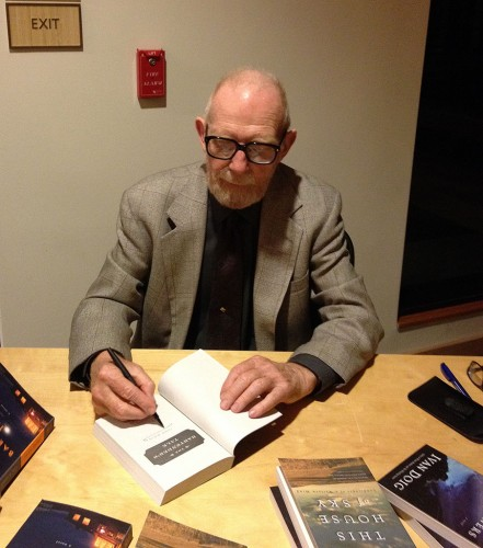 Ivan Doig signs books