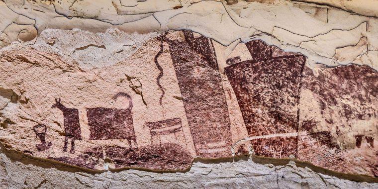 Puebloan pictograph