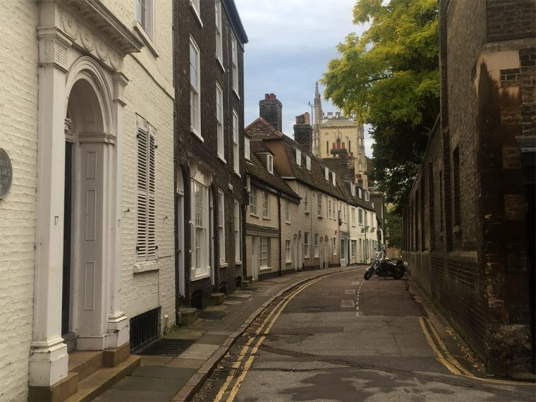 Street in Cambridge. Photo by Anne Tate.
