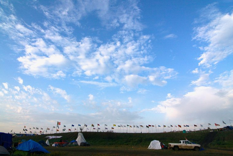 Ring of flags at Standing Rock