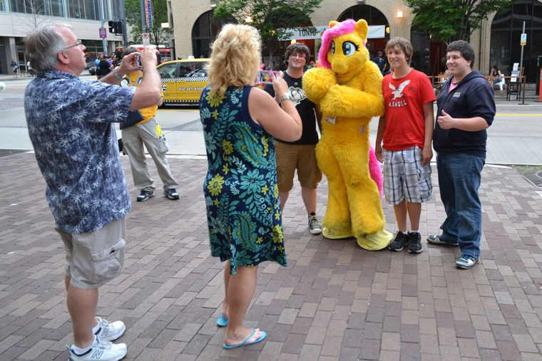 Furries and fans at Anthrocon
