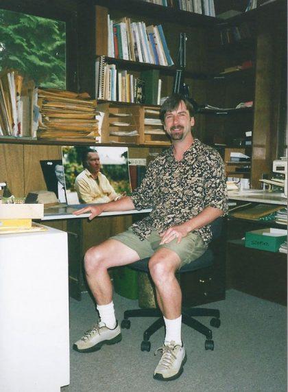Derek Sheffield in William Stafford's study