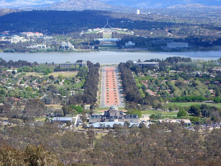 Canberra and Parliament buildings