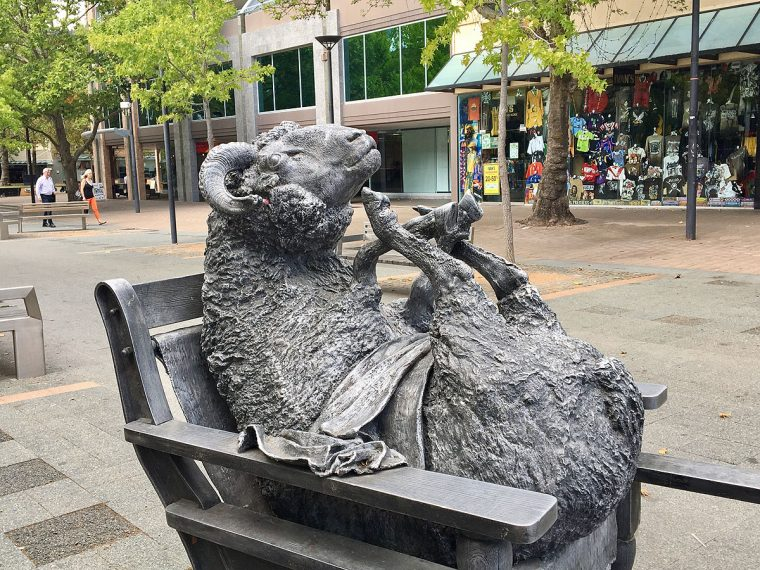 Canberra street art: sheep sculpture