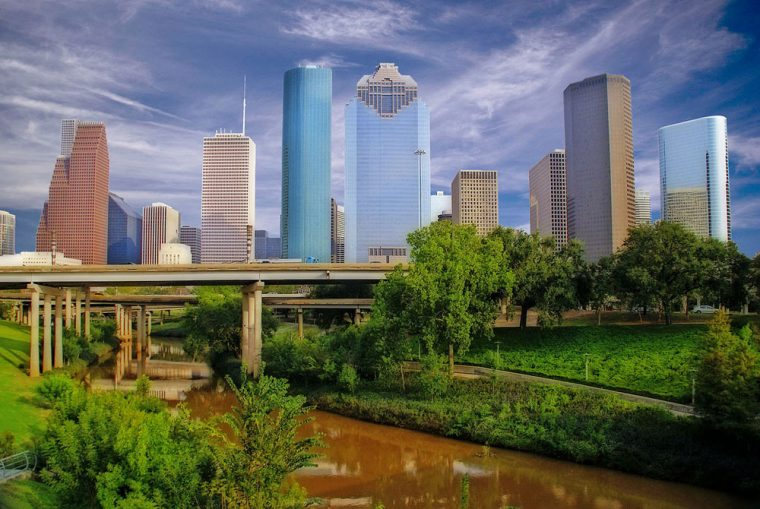 Buffalo Bayou near downtown Houston