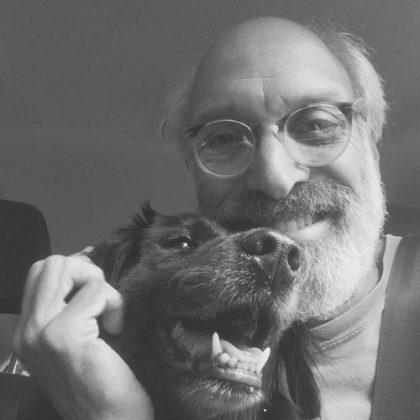 Stuart Shils and his dog