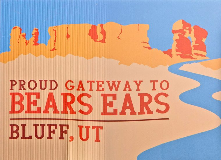 Proud Gateway to Bears Ears. Bluff, UT.
