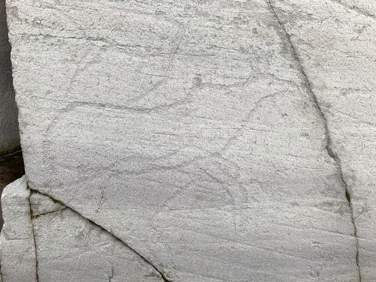 Photo of ancient rock art by Alisa Slaughter