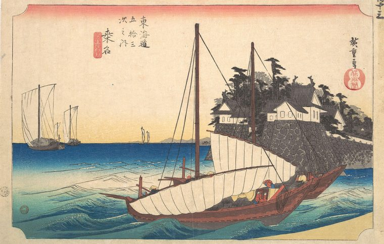 53 Stations of the Taikado: Kuwana, by Ando Hiroshige
