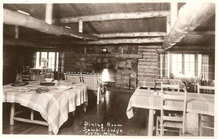 Historic photo of Sawbill Lodge.