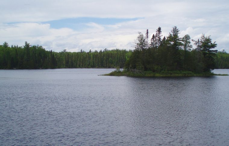 The view onto the lake.
