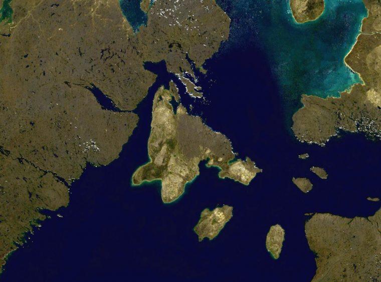 Satellite image of Southampton Island