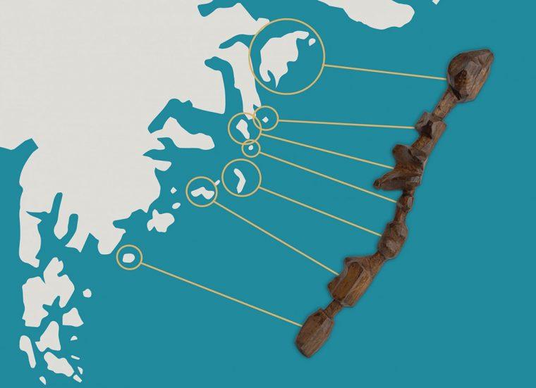 Ammassalik driftwood map