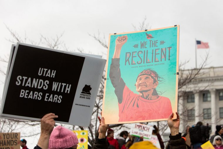 Bears Ears protest signs