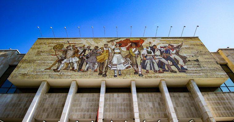 Mural in Tirana.