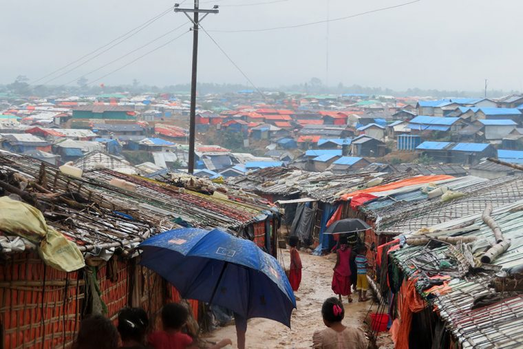 Monsoon in the refugee camp