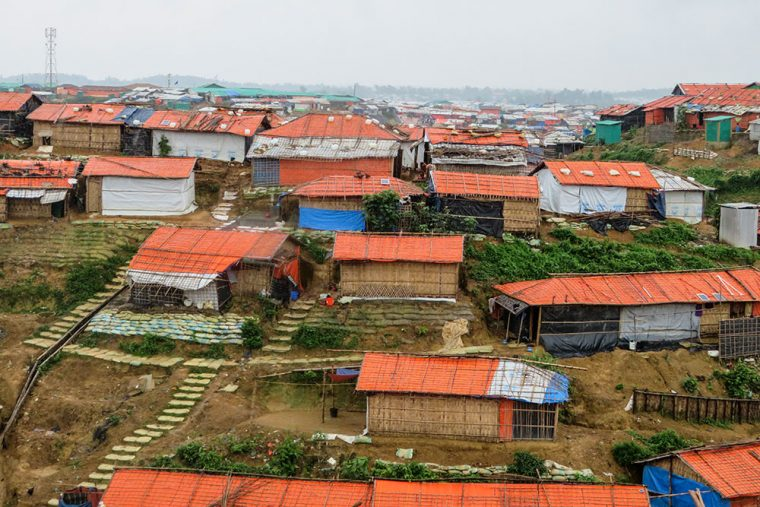 Red roofs of the refugee camp