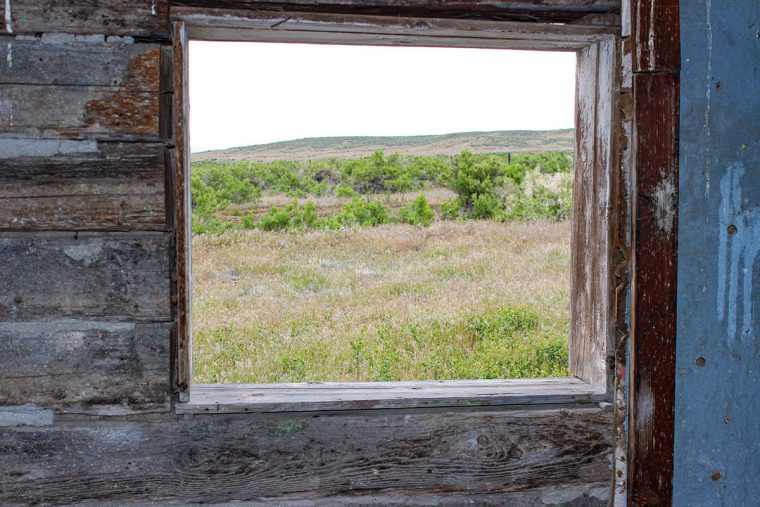 View from abandoned miner's cabin in the ghost town of Beowawe